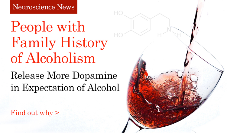 People with Family History of Alcoholism release more dopamine